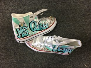 Quinceanera Shoes Grafiti Style