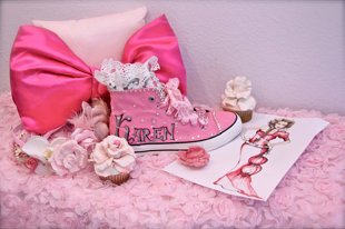 Custom Made Pink Quinceañera Shoes